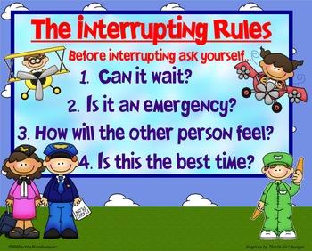 The Interrupting Rules Poster Freebie