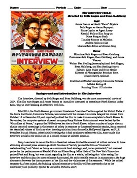 The Interview Film (2014) Study Guide Movie Packet