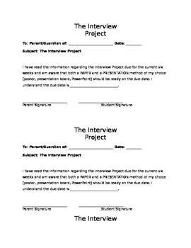 The Interview Project-introduce the importance of math in all careers