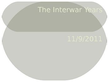 The Interwar Years Powerpoint