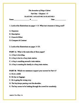 The Invention of Hugo Cabret 4th Grade Georgia Standards