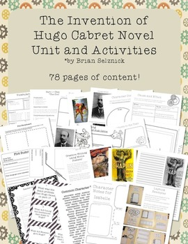 The Invention of Hugo Cabret Novel Study Unit and Lapbook