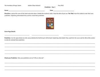 The Invention of Hugo Cabret Student Worksheets