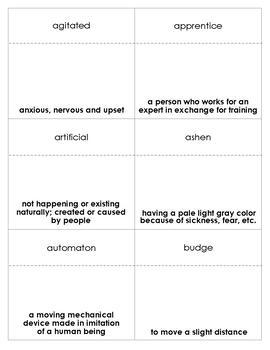 The Invention of Hugo Cabret Vocabulary Bingo