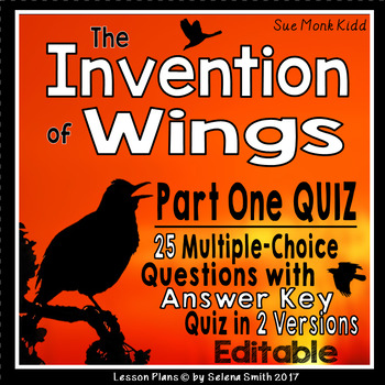 The Invention of Wings Part One Quiz