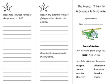 The Inventor Thinks Up Helicopters Trifold - Wonders 3rd Grade Unit 2 Week 5