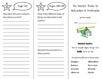 The Inventor Thinks up Helicopters Trifold - Wonders 3rd Gr Unit 2 Week 5 (2020)