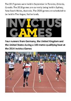The Invictus Games Handout