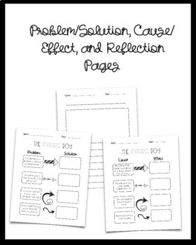The Invisible Boy Cause/Effect & Problem Solution
