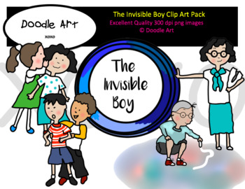 The Invisible Boy Clipart Pack