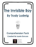 The Invisible Boy Comprehension Pack