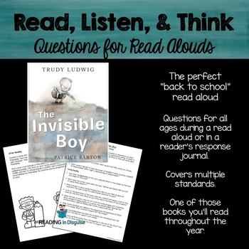 The Invisible Boy Higher Order Thinking Questions