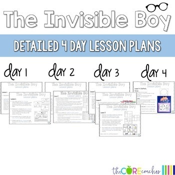 The Invisible Boy: Interactive Read-Aloud Lesson Plans Activities 3-4
