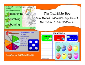 The Invisible Boy  ~ Smartboard Lessons to Supplement the 2nd Grade Classroom
