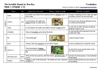 The Invisible Island (A-Z Mysteries) Reading Guide / Novel Study