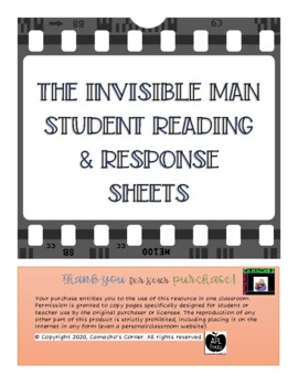 The Invisible Man Student Response Sheets