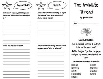 The Invisible Thread Trifold - ReadyGen 6th Grade Unit 3 Module A