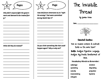 The Invisible Thread Trifold - ReadyGen 6th Grade Unit 3 Module A