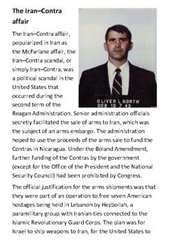 The Iran–Contra affair Handout