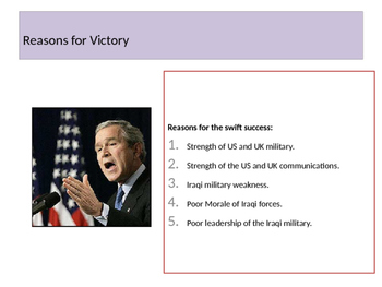 The Iraq War/Invasion of Iraq 2003