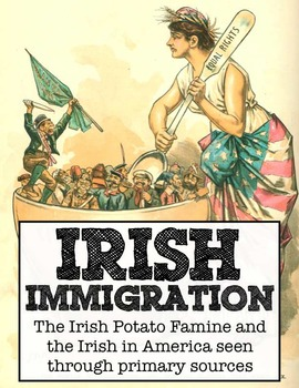 A Letter to Ireland: Irish immigration primary source stations, writing activity