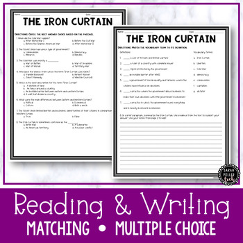 The Iron Curtain Reading & Writing Activity (SS5H5, SS5H5a)