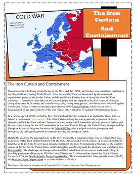 The Iron Curtain and Containment