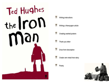 The Iron Man by Ted Hughes literacy lessons