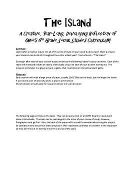 The Island!  A Year-Long Activity Featuring EVERY Unit in your Course of Study!