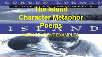 The Island by Gordon Korman  character poems
