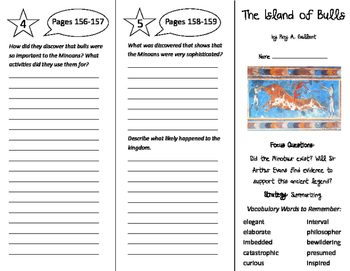 The Island of Bulls Trifold - Imagine It 6th Grade Unit 2 Week 1