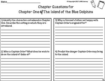 Island of the Blue Dolphins Novel Study-Comprehension, vocab, and more!