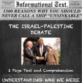 The Israeli-Palestinian Conflict:  Informational Text Home