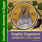 Joseph and the Israelites Journey to Egypt Graphic Organizers   Editable PDF