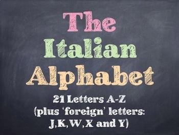 The Italian Alphabet PowerPoint