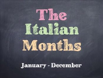 The Italian Months PowerPoint