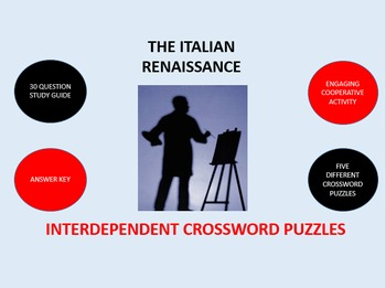 The Italian Renaissance: Interdependent Crossword Puzzles Activity