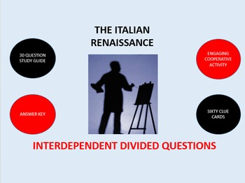 The Italian Renaissance: Interdependent Divided Questions Activity