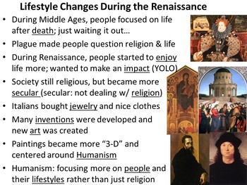 The Italian Renaissance PowerPoint and Guided Notes Sheet