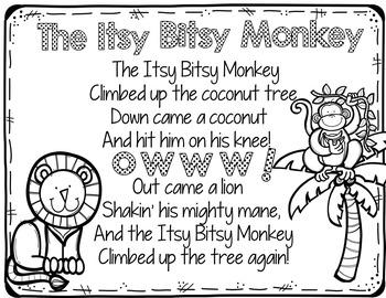 The Itsy Bitsy Monkey (Pocket Chart Activity)