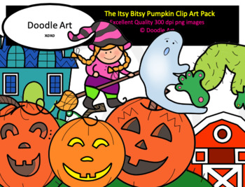 The Itsy Bitsy Pumpkin Clip Art Pack