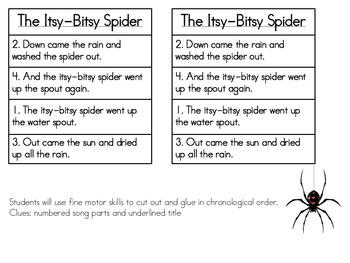 The Itsy-Bitsy Spider Activity