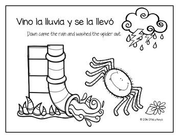 The Itsy Bitsy Spider, La Peqeuña Araña Booklet (Spanish and English)