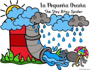 The Itsy Bitsy Spider, La Peqeuña Araña Booklet (Spanish a
