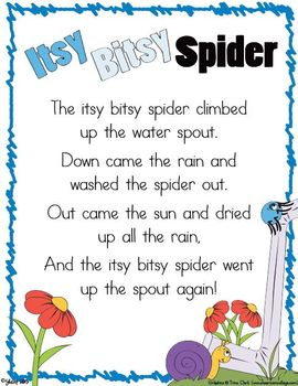 The Itsy Bitsy Spider {Nursery Rhymes}