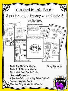 The Itsy Bitsy Spider Literacy Pack