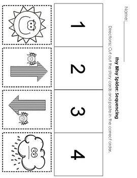 The Itsy Bitsy Spider Math & Literacy Pack
