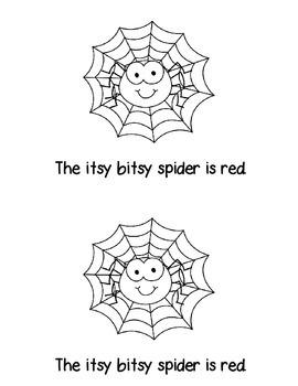 The Itsy Bitsy Spider Mini Reader