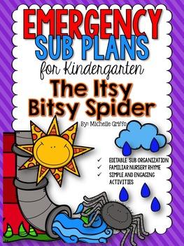 Emergency Sub Plans for Kindergarten