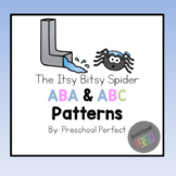 The Itsy Bitsy Spider Pattern Cards